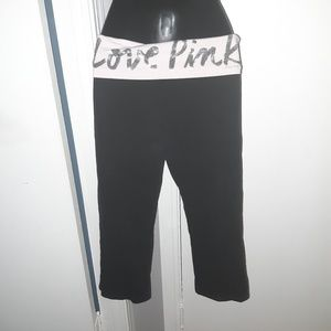 Love Pink yoga capri (S)